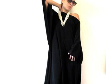 Caftan dress, Long caftan dress, Long oversized dress, Black caftandress, Long caftan dress, Long sleeve caftan, Caftan maxi dress