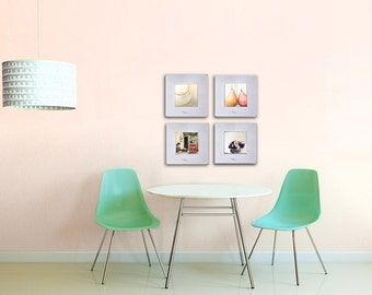 Food Photography Set of 4 Prints Rustic Kitchen Decor Neutral Photo Prints - Save up to 50%