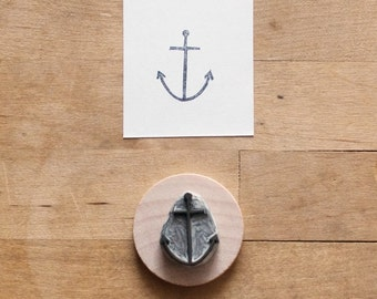 Little Anchor - Hand Carved Rubber Stamp