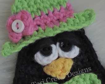 Little Penguin Softie Toy and Matching Applique Embellishment Crochet Pattern by Teri Crews Instant Download
