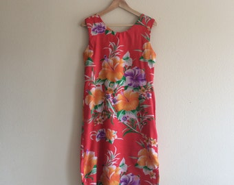 1 9 6 0 s / Hibiscus Wiggle Dress