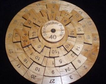 Safecracker 40 - Wood Puzzle - Math Puzzle - Brain Teaser - Wood Brain Teaser - Numbers Puzzle
