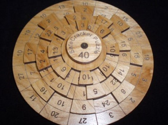 Safecracker 40 - Wood Puzzle - Math Puzzle - Brain Teaser - Wood Brain Teaser - Numbers Puzzle