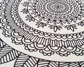 Mandala Coloring Book Adult Mehndi Henna Printable PDF 20 Pages by Katie N. Dunphy