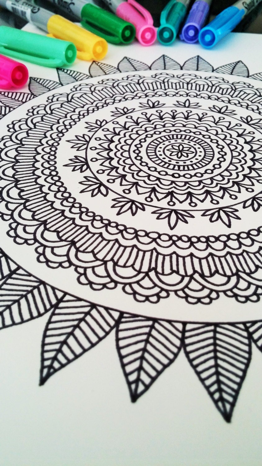 Mandala Coloring Book Adult Mehndi Henna Printable PDF 20