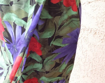 Hawaiian Blossom Vintage Skirt