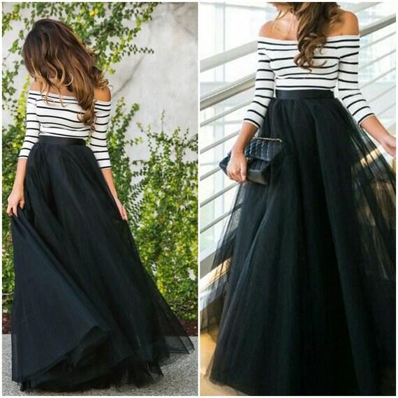 Full Length Floor Length Tulle Skirt Extra Full Skirt Ivory