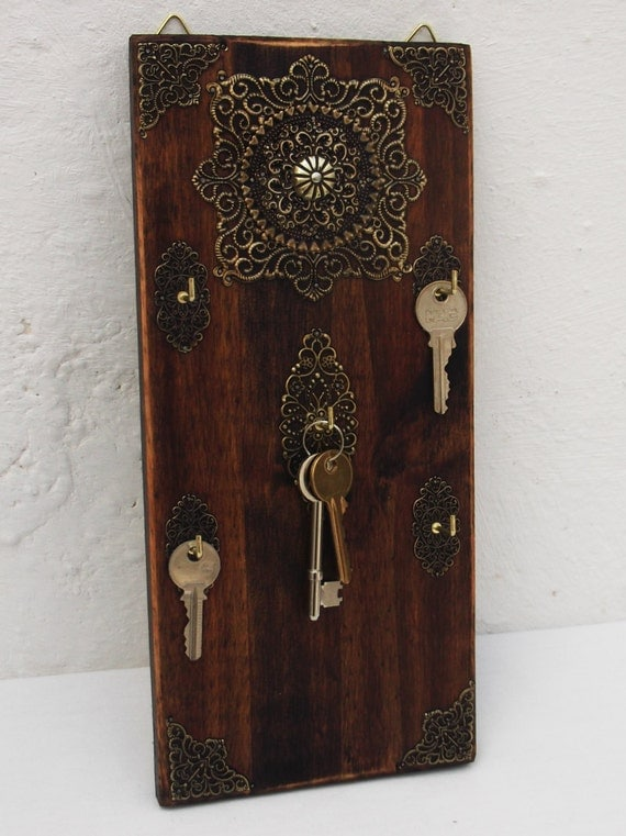 Key Rack Moroccan Inspired Decorative Wooden By