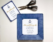 nautical wedding gift - wedding invitation plate - unique wedding gift - couples keepsake - 1st anniversary gift - personalized couples gift