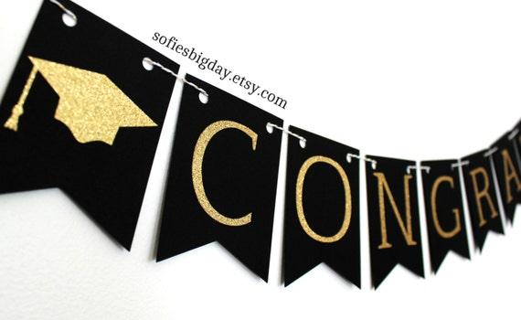 graduation banner congrats banner graduation black graduation banner happy new year banner black. Black Bedroom Furniture Sets. Home Design Ideas