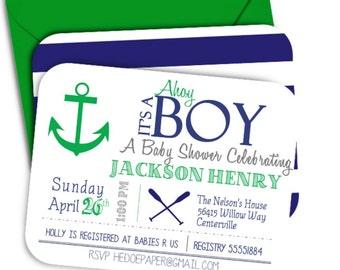 DIY Nautical Baby Shower Invitation Printable Invitation Anchor Baby Shower Invitation Girl Baby Shower Boy Baby Shower Birthday Invitation