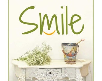 SMILE Vinyl Wall Decal Q-124