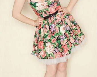 Floral summer dress- Pin up, 50's style-SALE