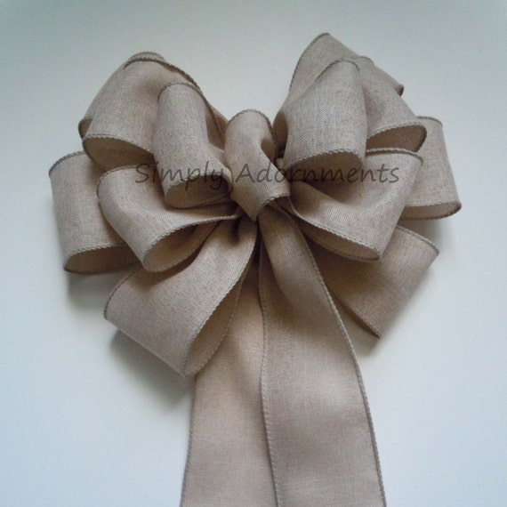 Sand Beige Wedding Pew Bows Birthday Bridal Shower Party Decoration Bow Wedding Chair Bow Gift Topper Bow