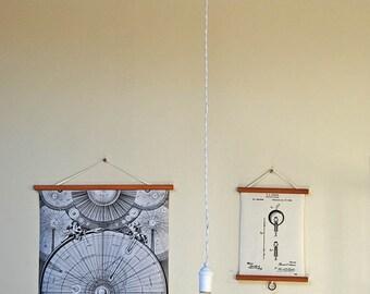 White Modern Bare Bulb Pendant Light