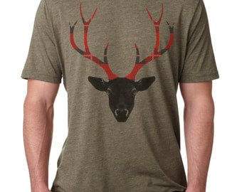 Deer shirt | Antlers shirt | Men's t-shirt | Graphic Tee | deer t shirt | deer shirts for men | cool gifts for guys |