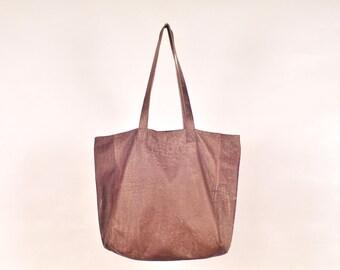 ANILA. Leather bag women / brown leather tote bag / brown leather shoulder bag / simple tote / brown tote / brown leather bag handmade