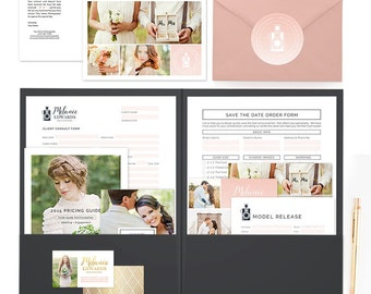 Wedding Welcome Packet, Wedding Photography Marketing, Wedding Photography Logo, Wedding Photography Template, Marketing Set Kit - MK146D