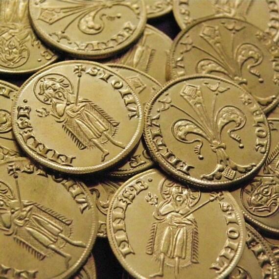Moneta di replica d 39 ottone di firenze fiorino d 39 oro for Coin firenze