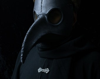Traditional Black Plague Doctor mask