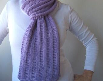 Garter Rib Texture Knit Scarf Pattern - GARTER RIBBED Scarf Knitting Pattern PDF - Digital Download