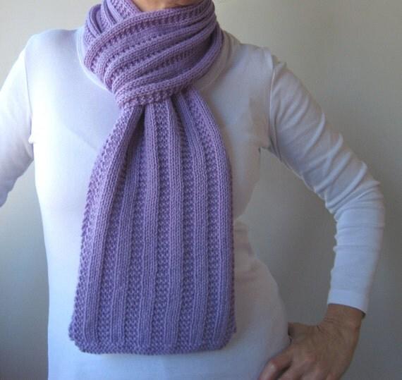 Garter Rib Texture Knit Scarf Pattern Garter Ribbed Scarf