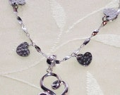 Fainting Heart Charm Necklace With Mystic Topaz in Silver Handmade Jewellery by NorthCoastCottage Jewelry Design & Vintage Treasures