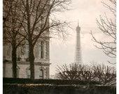 Paris print, Eiffel Tower photo picture, pale pink pastel art photography, paris wall art poster, 8x12, 12x16,18x24,10x20,12x18,16x20 print