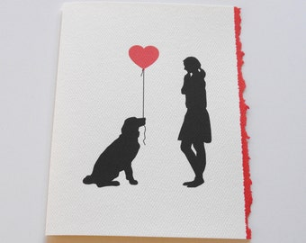 Dog Mom Card, Valentine's Day Card, Mother's Day Card, Greeting Card from the Dog