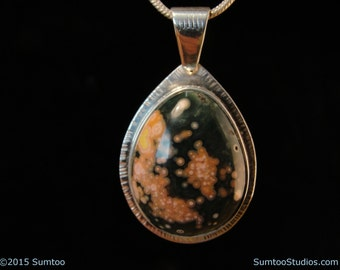Ocean Jasper in Argentium Sterling Silver Pendant