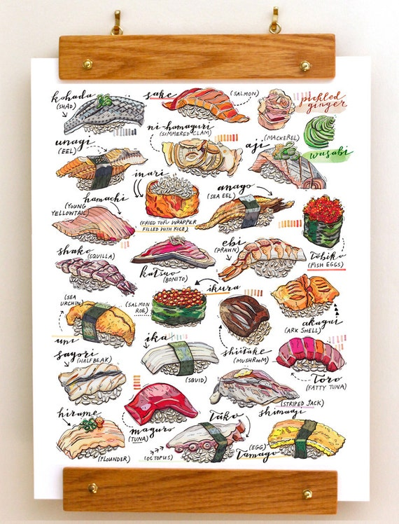 Beautiful sushi print