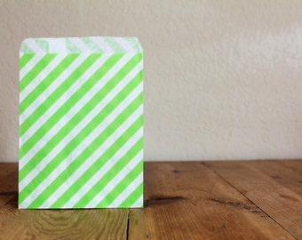 10 Lime Green Favor Bags