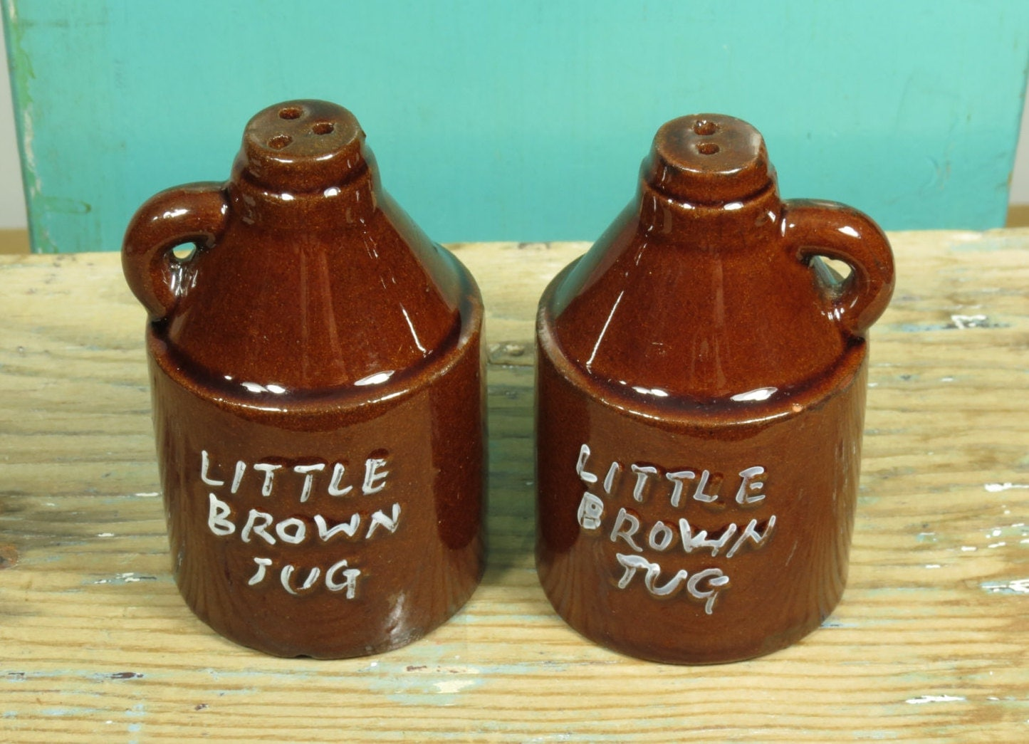 Little Brown Jug Salt And Pepper Shakers Moonshine Jugs
