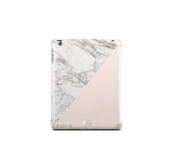 IPad en marbre marbre cas iPad 2 cas marbre iPad 3 marbre blanc cas iPad 4 iPad Case Cover White PRINT de marbre blanc marbre iPad Beige couvrir