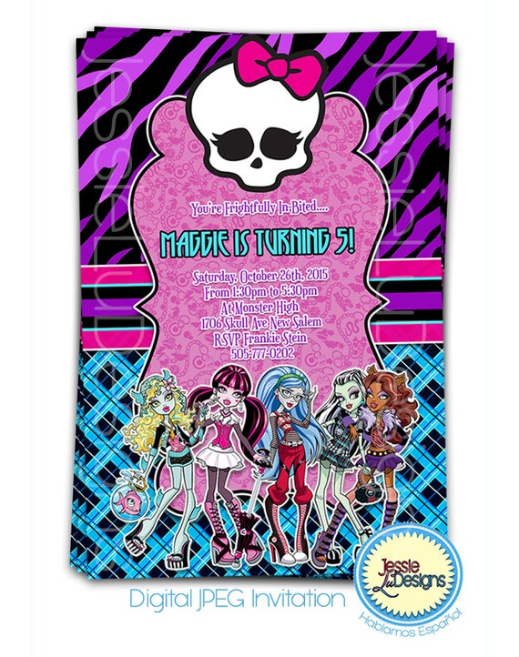 Monster High Invitation Wording was perfect invitation ideas