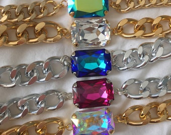 Swarovski Crystal Chunky Chain Bracelet