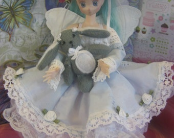 Sunday Afternoon sweet dress set for Azone Pureneemo Flection S 1/6 size doll