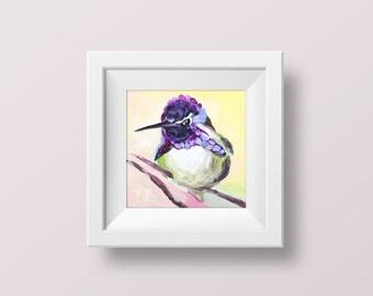 Hummingbird wall art Hummingbird print Bird art print Cheap wall art prints Fine art prints Bird wall decor Prints of Paintings Small 4x4