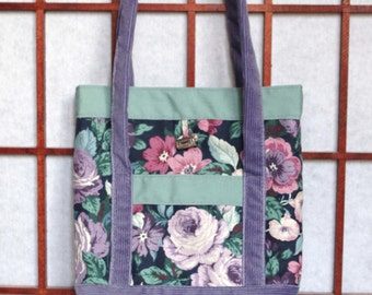 Small Tote Bag, Reusable Gift Bag, Ecofriendly Fabric Tote Bag, Reversible Tote Bag, Recycled Fabric Gift Bag, Handmade Gift Tote, Lunch Bag