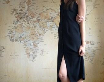 80s Prom Dress, Black Vintage Midi Dress, Black Prom Dress, LBD, 80s Prom Dress, Vintage Prom Dress, Black Maxi Dress, Evening Dress