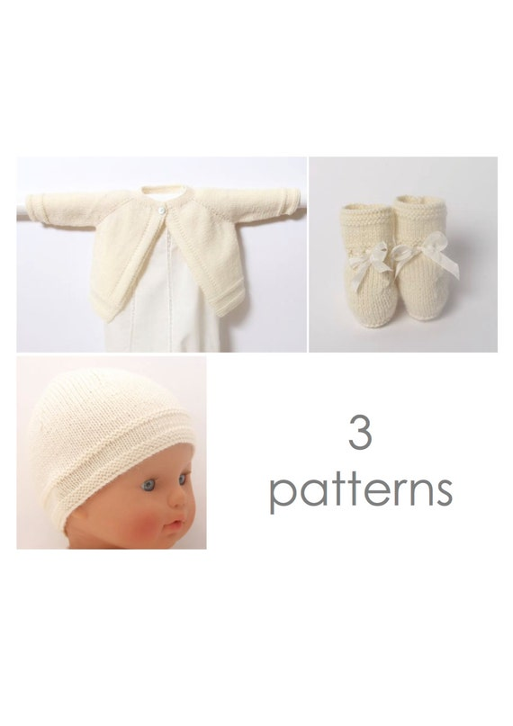 Baby set / 3 Patterns / English instructions / PDF Instant download