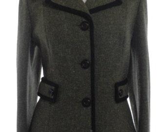 Vintage 1970's Fashiomise Green Tweed Coat 14 - www.brickvintage.com