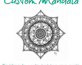 Custom Sacred Geometry Energy Mandala