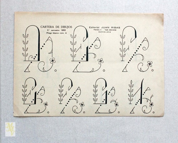 Vintage embroidery patterns embroidery fonts by - Plumas para decorar ...