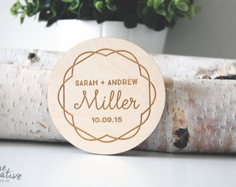 Wood Coaster, Personalized Coaster   Engraved Coasters - Engraved Gift - Custom Coasters - Anniversary Gift - Wedding Gift - Tableware