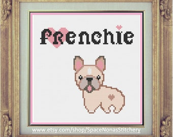 French Bulldog - Cross Stitch Pattern - Downloadable PDF