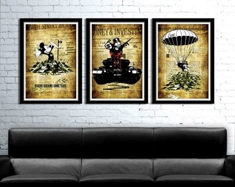 Alec Monopoly/Banksy Inspired Art Tribute Series - Collection 295 - Home Decor