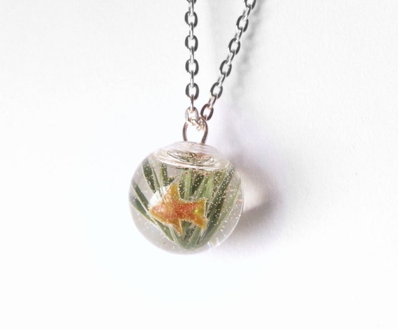 Gold fish necklace goldfish necklace gold by for Gold fish pendant