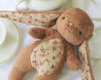 Bunny Toy-  Brown Cuddle Bunny- Easter Bunny Rabbit-Stuffed Animal