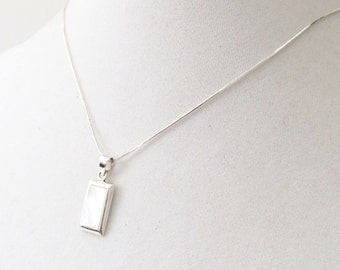 """MOP Sterling Silver  Necklace 16"""""""